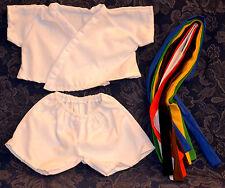 "Teddy Bear Karate Uniform Clothes Fit 14""-18"" Build-a-bear !New!"
