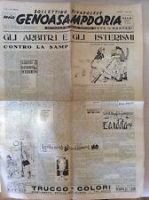 SAMPDORIA GENOA CALCIO 1952 BECCATTINI  GENOASAMPDORIA BOLLETTINO RIVAROLESE