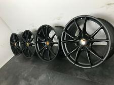 """Original 982 718 Porsche Boxster Cayman 20"""" Carrera S4 Felgen Schwarz matt NEU"""