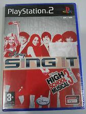SING IT DISNEY HIGH SCHOOL MUSICAL 3 FIN DE CURSO PS2 PLAYSTATION 2 NUEVO