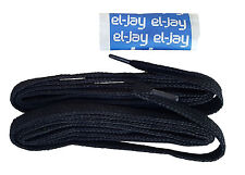"EL-JAY 100cm 39"" Nylon Woven Black Football Rugby Laces MRRP £1-99"