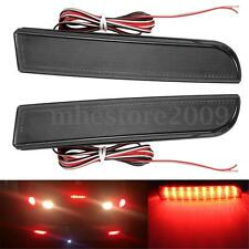 2x LED Rear Bumper Reflector Tail Brake Light For Mitsubishi Lancer Evolution X