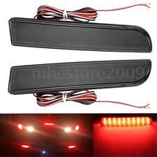 2x LED Rear Bumper Reflector Tail Brake Light For Mitsubishi Lancer Evolution X