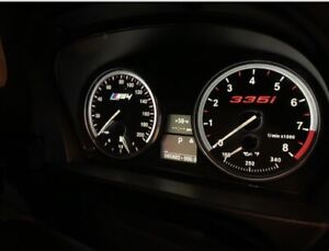 BMW E90 E92 E93 335i Custom Cluster Face Gauges OEM Material N54