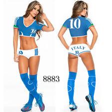 sexy american footballer cheerleader sports lingerie role play fancy dress 8-12