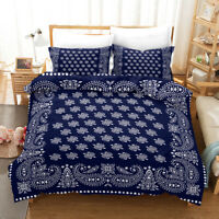 3D Ethnic Style Floral Quilt Cover Set Bedding Duvet Cover Single/Queen/King 75