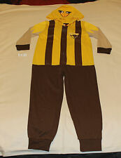 Hawthorn Hawks AFL Boys Toddler Mascot Printed Hooded Onepiece Pyjama Size 4 New