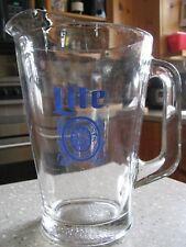 Vintage Thick Glass Miller Lite Beer Pitcher