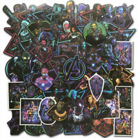 100Pcs Vinyl Marvel Superhero Sticker Bomb Skateboard Luggage Laptop Decals Dope