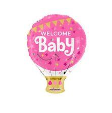 PALLONE MYLAR WELCOME BABY ROSA DIAMETRO 45 CM nascita