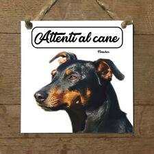 Pinscher MOD 2 Attenti al cane Targa cane cartello ceramic tles