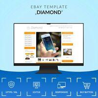 DIAMOND 2019 RESPONSIVE Auktionsvorlage Template Vorlage Design Ebayvorlage HTML