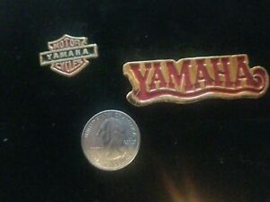 Vintage 1970's Yamaha Motorcycle Pin Set