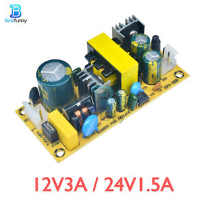 12V3A / 24V1.5A Switching Board AC 220V To DC 24V Power Supply Module for Repair