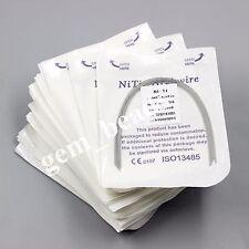 50 Pack(10pcs/pk)Dental Orthodontic Super Elastic Niti Arch Wire Rectangular FDA