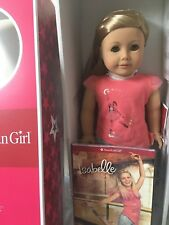 NEW American Girl Isabelle Doll NIB with book and hot pink hair extensions