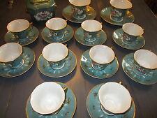Porcelaine SEVRES; service à café 11 tasses+ sous tasses/ Sucrier/ 2 gd tasses