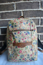 NWT Patricia Nash Prairie Rose Collection Pontori Backpack beige red green