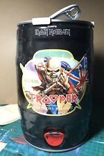 Official Iron maiden used trooper Beer keg very rare Not T Shirt Pin Badge Vinyl