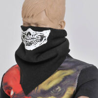 1/6 Scale Black Face Mask Scarf Gothic Skull Style for 12inch Phicen Dolls