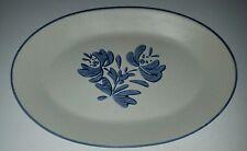 Pfaltzgraff Yorktowne Oval Large Platter Plate  Stoneware Blue and White