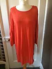 Monsoon Uk 18 Eu 46 Us14 Orange Cotton/viscose Dress/tunic