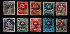 Briefmarken Schweiz Völkerbund (SDN) 16 - 25 x gestempelt