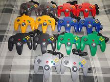 (2) N64 NINTENDO 64 controller ,yellow, red, gray, black, purple, blue, ORIGINAL