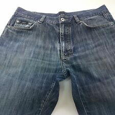 HUGO BOSS TEXAS Mens Jeans W35 L32 Dark Blue Regular Fit Straight Mid Rise