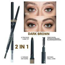 Waterproof PHOERA ULTRA SLIM Eyebrow Define Dark Brown Pencil Spoolie Makeup