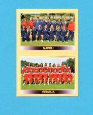 PANINI CALCIATORI 2013-2014-Figurina n.-818-NAPOLI+PERUGIA-SQ FEMMINILE-NEW