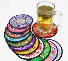 Wholesale 10pcs Classic Chinese Suzhou special embroidery cup insulation pad