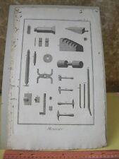 Vintage Print,MENNIER,Diderot Occupations,Machinery,c1770-80,,Plate 5