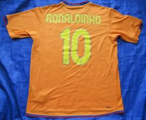 RONALDINHO #10 Barca FC BARCELONA away jersey shirt NIKE 2006-08 trikot adult L