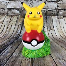 "Nintendo Pokemon #25 Pikachu Pokeball 7.5"" Tall PVC Coin Bank Applause 1998"