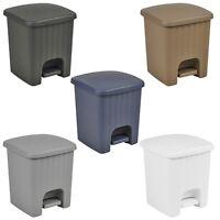 Plastic 5 Litre Bin with Pedal Lid Waste Dustbin Rubbish Garbage Bathroom Toilet