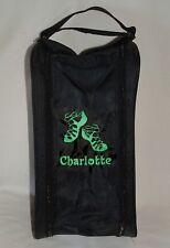 Personalised Irish Dance Shoe Bag - Embroidered Irish Shoes Logo - Any Name