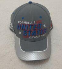 United States Formula 1 2015 Grand Prix Racing Hat Gray Blue One Size Strap Back
