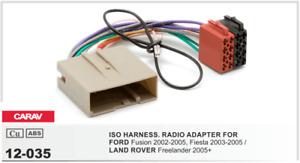 CARAV 12-035 Conector ISO OEM Adaptador FORD Fusion Fiesta LAND ROVER Freelander