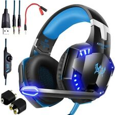 3.5mm Gaming Headset LED Headphones Stereo Surround for PS3 PS4 Xbox one X