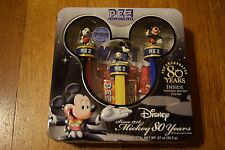PEZ Mickey Mouse 80 Years Collector's Tin Box Set w/ Poster Limited Edition NIB