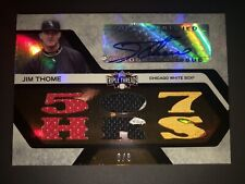 Jim Thome auto 2008 Triple Threads #'d /9 with six patches L@@K!