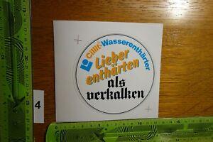 Alter Aufkleber Heizung Sanitär CILLIT-WASSERENTHÄRTER (A)
