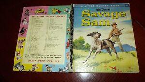 SAVAGE SAM D74 1st1963SYD LITTLE GOLDEN BOOK Walt Disney Gun dog HAMILTON GREENE
