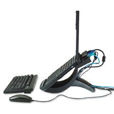 3M Vertical Notebook Computer Riser Cable Management 9x12x6 1/2 - 9 1/2 Black