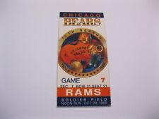 Oct. 29, 1989 Chicago Bears vs Rams Ticket Stub