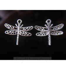 40pcs 26mm Charms Dragonfly Tibet Silver Pendants Connectors DIY Jewelry A7718