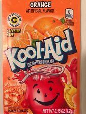 100 Kool Aid Drink Mix ORANGE citrus popsicle flavor Vitamin C summer party dye