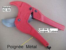 Lot 2 Pinces en Métal Coupe Tube Polyéthylène PVC,PER, 0 à 42 mm PRO (ISO 9001)
