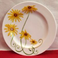 "Black Eyed Susan Salad Plate LYRICAL BLOOMS  8"" Westbury Court"